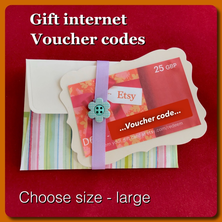 Envelope for online vouchers