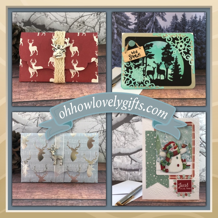 Handmade Christmas cards and envelopes sold for MD charities